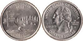 25 центов 2005 D США — Миннесота