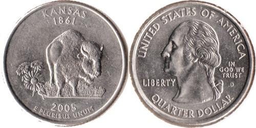 25 центов 2005 D США — Канзас