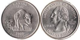 25 центов 2005 P США — Канзас UNC