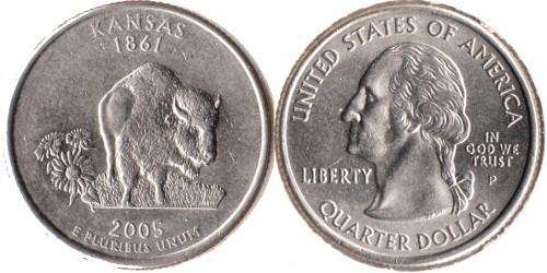 25 центов 2005 P США — Канзас