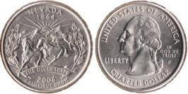 25 центов 2006 P США — Невада UNC