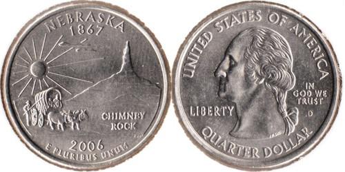 25 центов 2006 D США — Небраска UNC