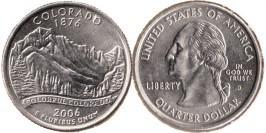 25 центов 2006 D США — Колорадо UNC