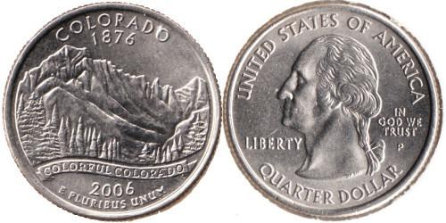 25 центов 2006 P США — Колорадо UNC
