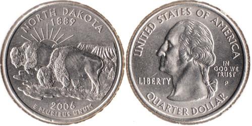 25 центов 2006 P США — Северная Дакота UNC