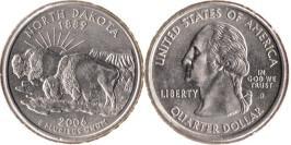 25 центов 2006 D США — Северная Дакота — North Dakota UNC