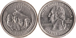 25 центов 2006 D США — Южная Дакота UNC