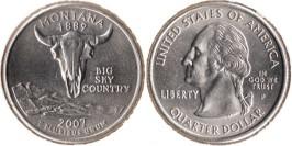 25 центов 2007 P США — Монтана UNC