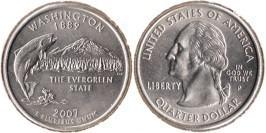 25 центов 2007 P США — Вашингтон UNC