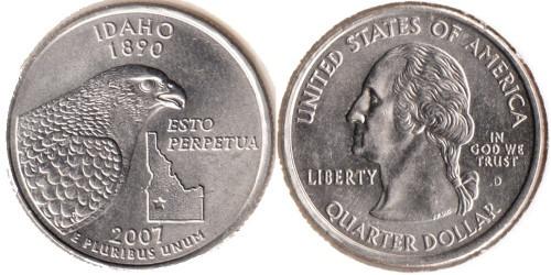 25 центов 2007 D США — Айдахо UNC
