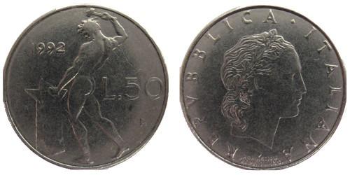 50 лир 1992 Италия