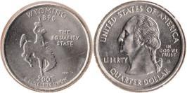 25 центов 2007 D США — Вайоминг — Wyoming