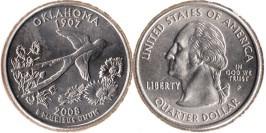 25 центов 2008 P США — Оклахома
