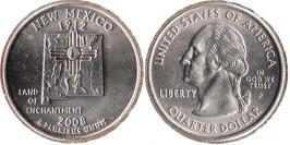 25 центов 2008 P США — Нью-Мексико