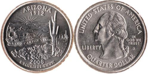 25 центов 2008 D США — Аризона