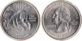 25 центов 2008 P США — Аляска