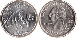25 центов 2008 D США — Аляска UNC