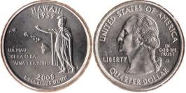 25 центов 2008 D США — Гавайи