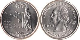 25 центов 2008 P США — Гавайи