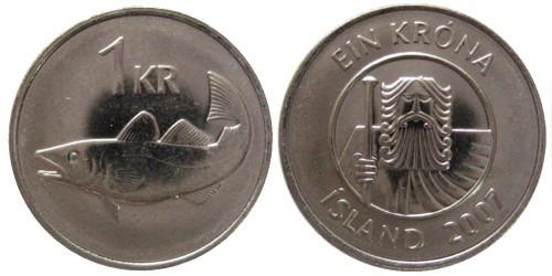 1 крона 2007 Исландия