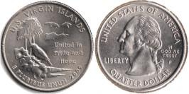 25 центов 2009 P США — Американские Виргинские острова UNC
