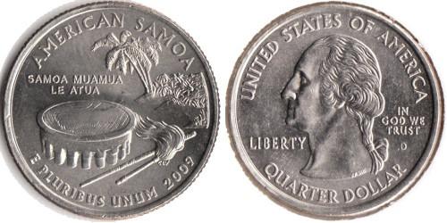 25 центов 2009 D США — Американское Самоа — American Samoa UNC