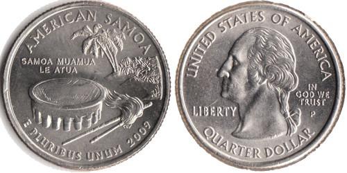 25 центов 2009 P США — Американское Самоа UNC