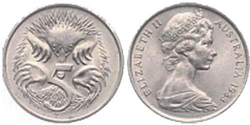 5 центов 1983 Австралия