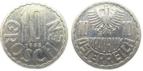 10 грошей 1988 Австрия