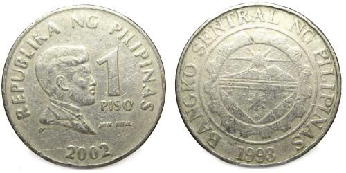 1 песо 2002 Филиппины