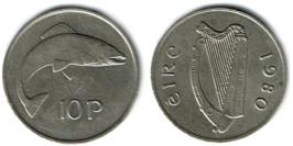 10 пенсов 1980 Ирландия