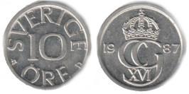 10 эре 1987 Швеция