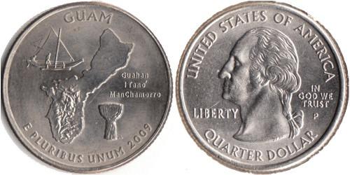 25 центов 2009 P США — Гуам UNC