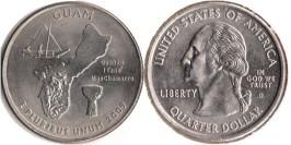 25 центов 2009 D США — Гуам UNC