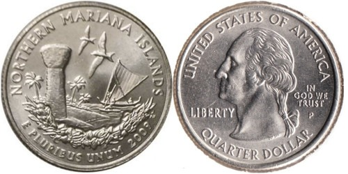 25 центов 2009 P США — Северные Марианские острова UNC