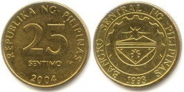 25 сентимо 2004 Филиппины UNC