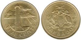 5 центов 1988 Барбадос