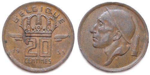 20 сантимов 1953 Бельгия (FR)