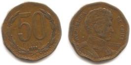 50 песо 1993 Чили
