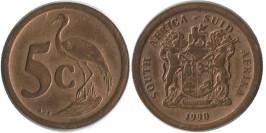 5 центов 1990 ЮАР
