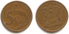 5 центов 1996 ЮАР