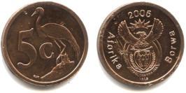 5 центов 2005 ЮАР