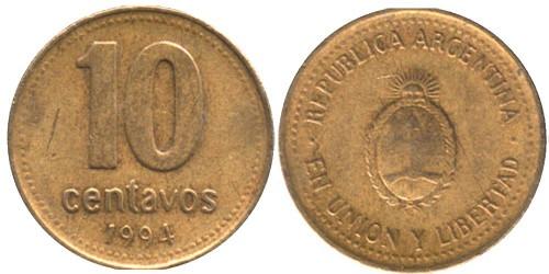 10 сентаво 1994 Аргентина