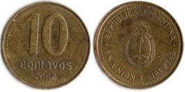 10 сентаво 2008 Аргентина