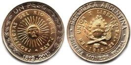 1 песо 2013 Аргентина — 200 лет первой национальной монете UNC
