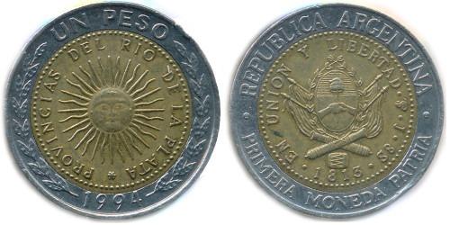 1 песо 1994 Аргентина