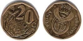 20 центов 2009 ЮАР