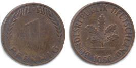 1 пфенниг 1950 «G» ФРГ