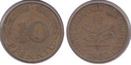 10 пфеннигов 1980 «G» ФРГ