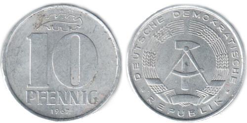 10 пфеннигов 1967 «A» ГДР